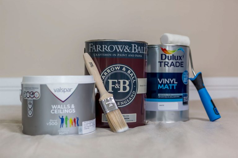 Painting fresh plaster
