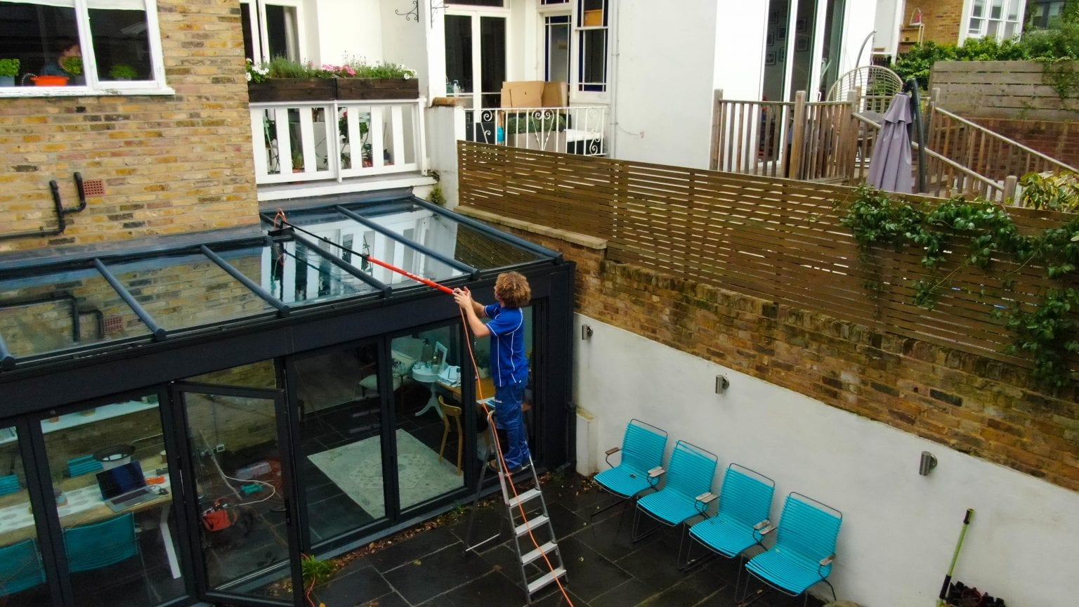 Glass roof cleaning from Aspect